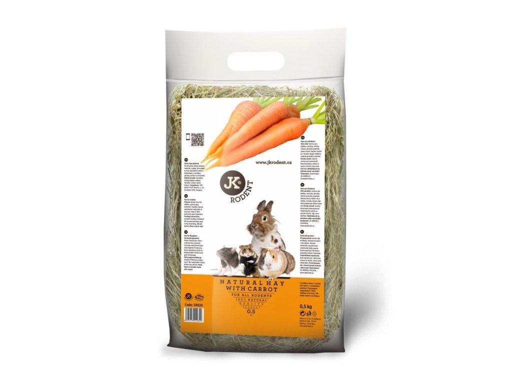 Přírodní seno s mrkví 500g