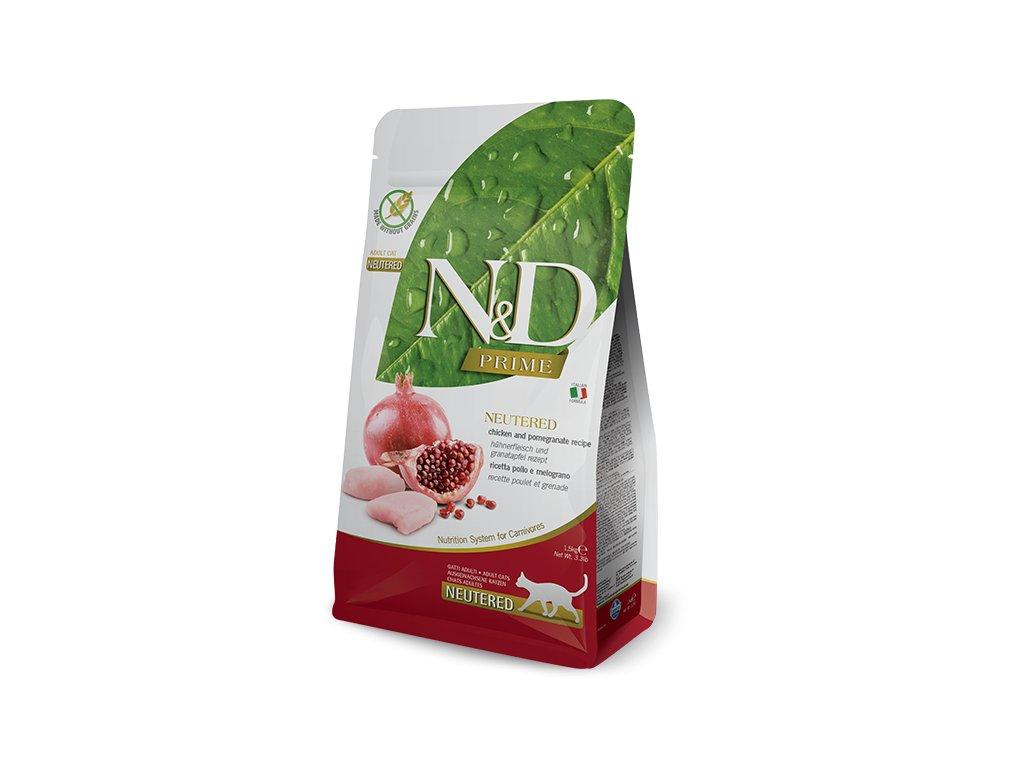 N&D PRIME CAT Neutered Chicken & Pomegranate