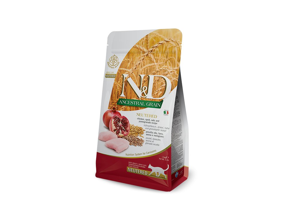 N&D LG CAT Neutered Chicken & Pomegranate