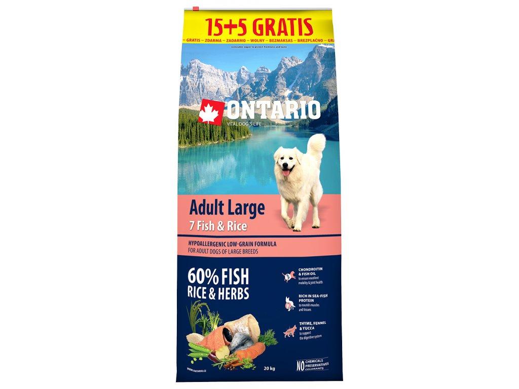 ontario adult large fish rice 15 5kg zdarma original