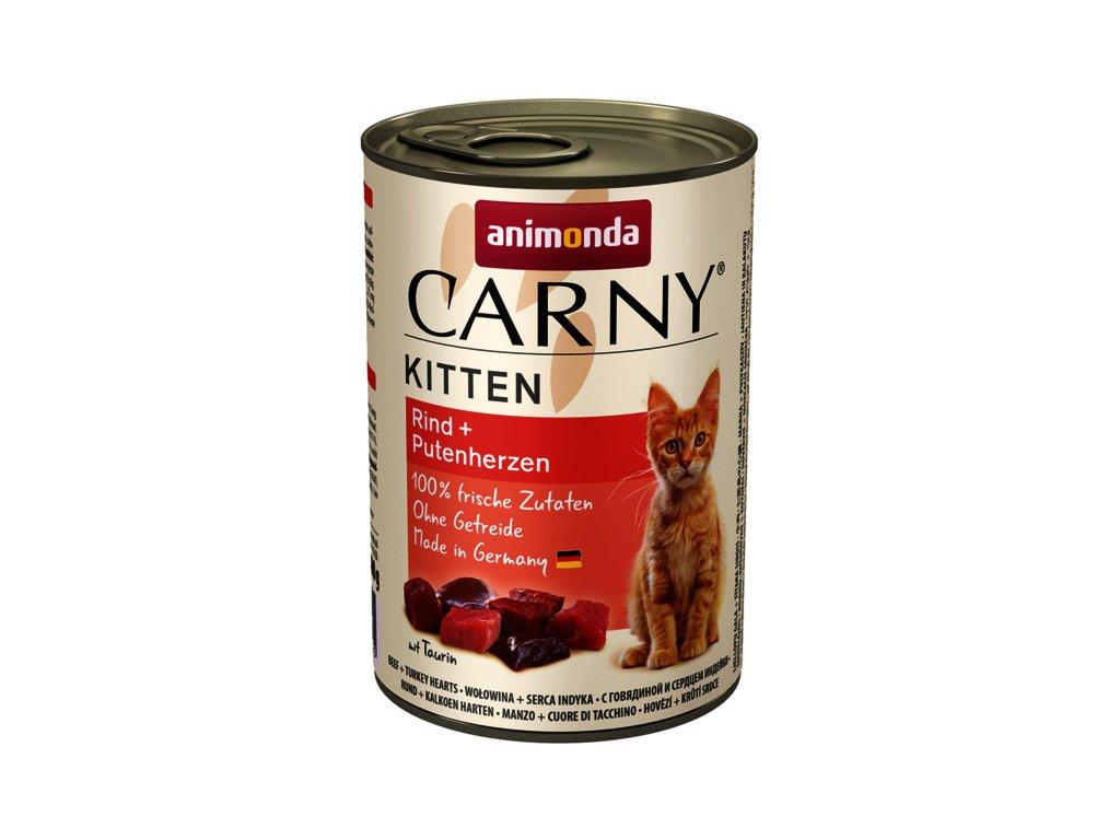 Animonda Carny Kitten hovězí+krůtí srdce