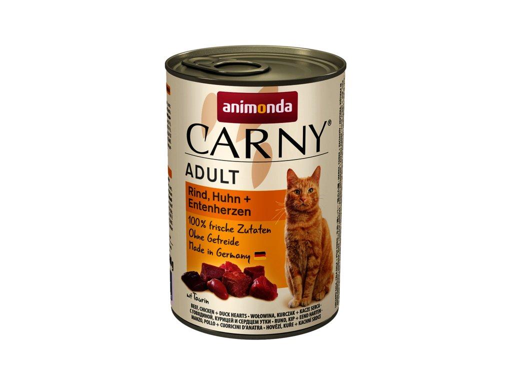 Animonda Carny Adult hovězí, kuře+kachní srdce