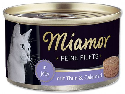 Konzerva MIAMOR Filet tuňák + kalamáry v želé 100 g