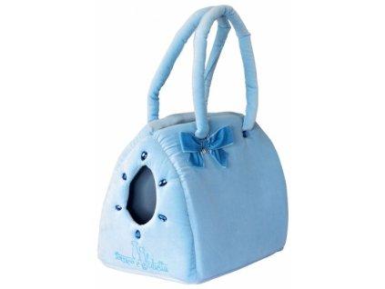 Elegantní taška samet modrá