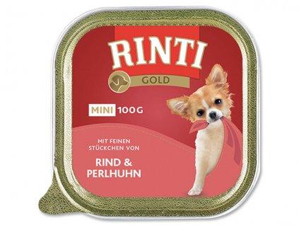 RINTI Gold Mini hovězí + perlička 100g