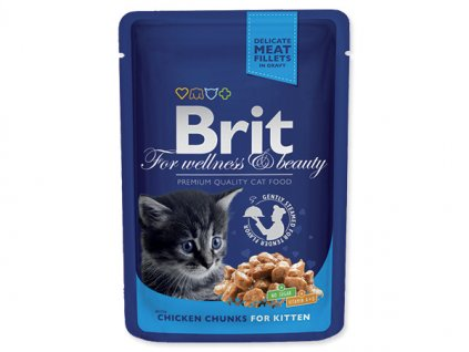 Brit Premium Kitten Chicken Chunks 100g