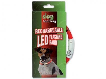 Obojek DOG FANTASY LED světelný 70 cm