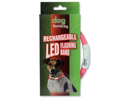 Obojek DOG FANTASY LED světelný 45 cm
