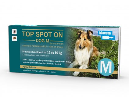 top spot on dog m 1x2 ml (stredni plemena)