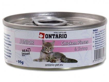 ONTARIO Junior Chicken Pieces + Shrimp 95g