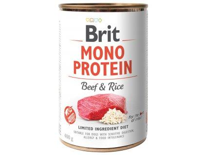 konzerva brit monoprotein beef brown rice 400g original