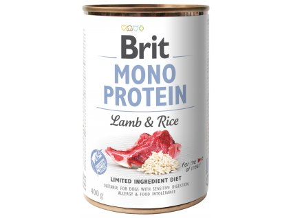 Konzerva Brit Monoprotein Lamb & Brown Rice 400g