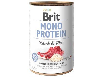 Konzerva Brit Monoprotein Lamb & Rice 400g
