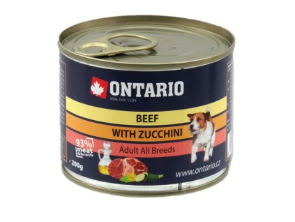 Konzerva Ontario Beef, Zucchini, Dandelion and linseed oil 200g