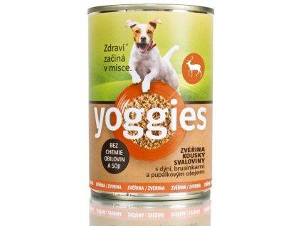 400g yoggies zverinova konzerva pro psy s dyni a pupalkovym olejem