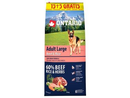 ontario adult large beef rice 15 5kg original