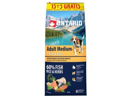 ontario adult medium fish rice 15 5 kg original