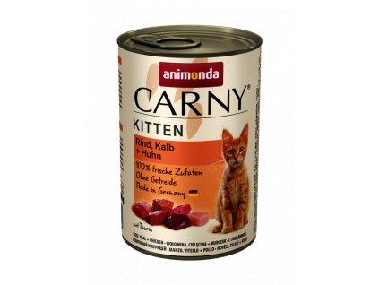 Animonda Carny Kitten hovězí, telecí+kuře