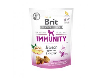 brit care dog functional snack immunity insect 150g original