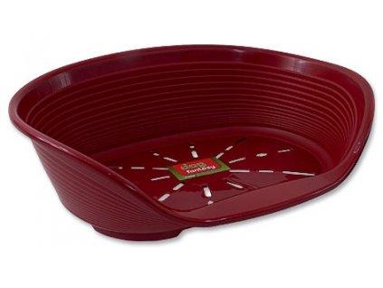 Pelíšek DF plastový červený 49 cm