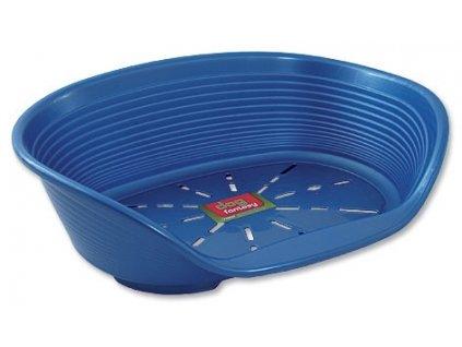 Pelíšek DF plastový modrý 49 cm