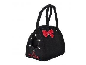 Elegantní taška samet černá