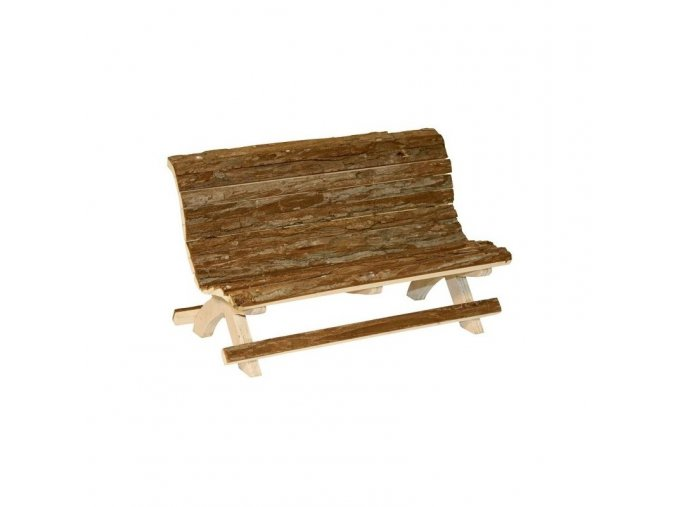 Lavička pro králíky, dřevěná, 30 x 15 x 18 cm