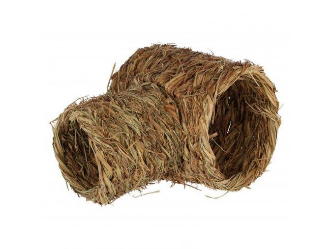 Domek pro králíky - tunel z trávy