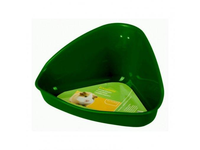 Toaleta pro křečky, plastová, zelená