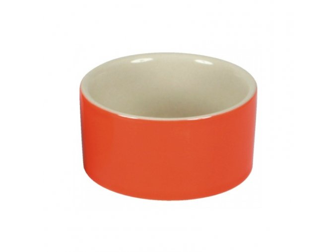 Miska na krmivo keramická, kulatá, 100 ml barevný mix