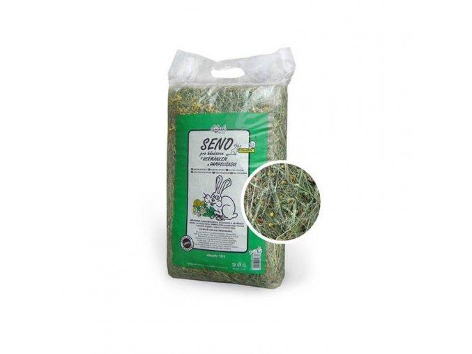 Krmivo a podestýlka - seno s heřmánkem a pampeliškou 15l
