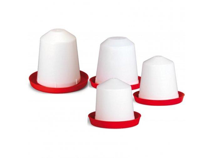 Napáječka pro kuřata plastová klobouková, 1,5 L