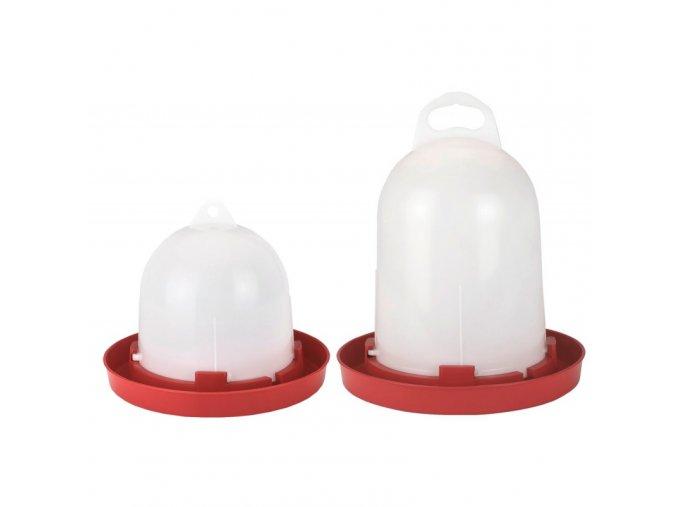 Napáječka pro drůbež plastová klobouková, bajonet, 3,5 L