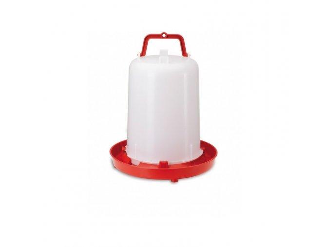 Napáječka pro drůbež plastová klobouková, 15 l, bajonet