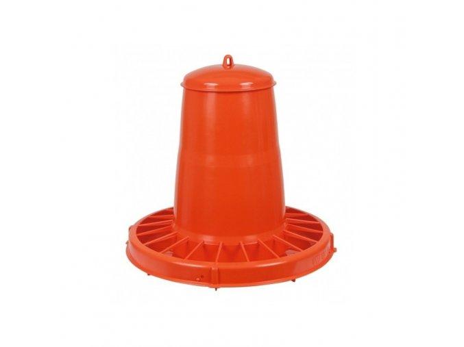 Automat krmící pro drůbež, 20 L / oranžová