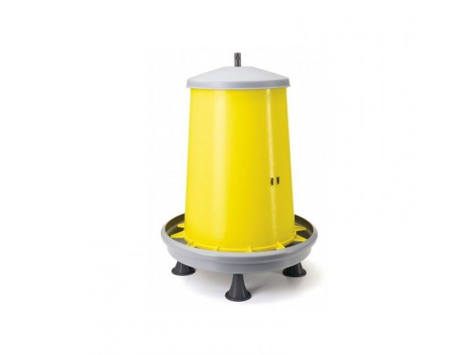 Automat krmící závěsný, krmítko pro drůbež plastové, nastavitelné, s nožkami, 18 kg