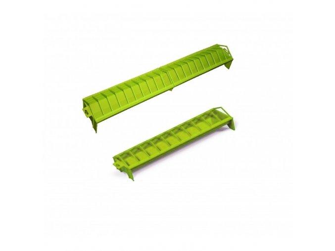 Krmítko pro slepice GALLINA, žlabové, plastové, zelené, 15x100 cm