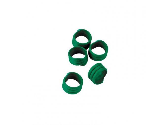 Kroužky na slepice, spirálové, 16 mm, 20 ks, zelená
