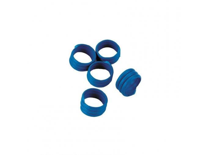 Kroužky na slepice, spirálové, 16 mm, 20 ks, modrá