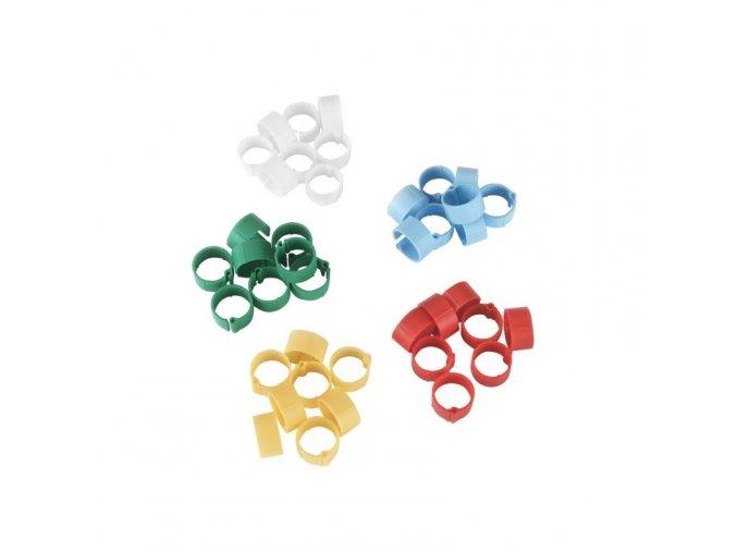 Kroužky na slepice, 5 barev, 8 mm, 100 ks