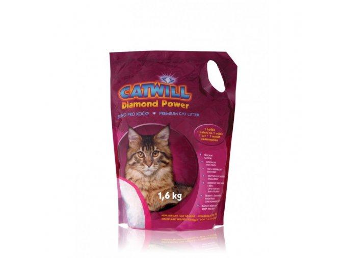 Stelivo pro kočky silikagelové Catwill, 3,8 L / 1,6 kg