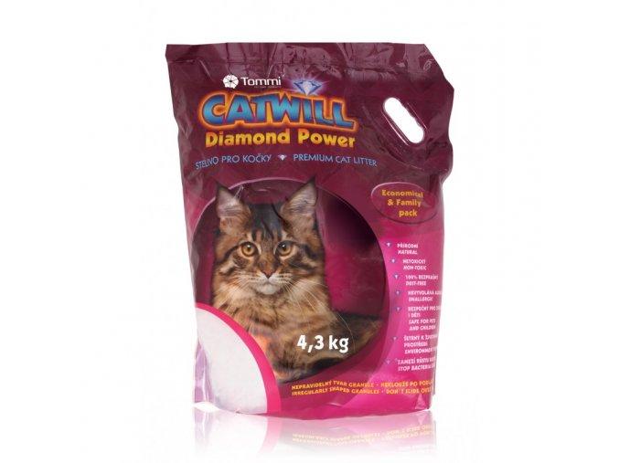 Stelivo pro kočky silikagelové Catwill, 10 L / 4,3 kg