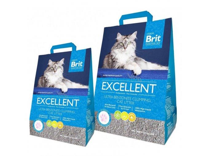 Podestýlka Brit Fresh for Cats Excellent Ultra Bentonite, 10 kg