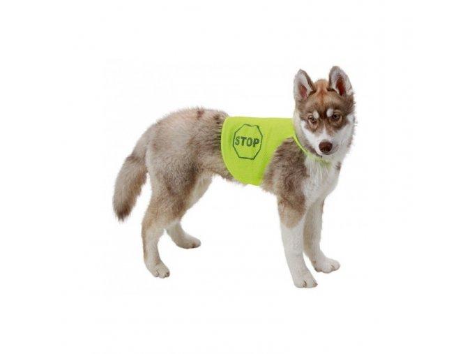 Kerbl bezpečnostní reflexní vesta pro psa, M