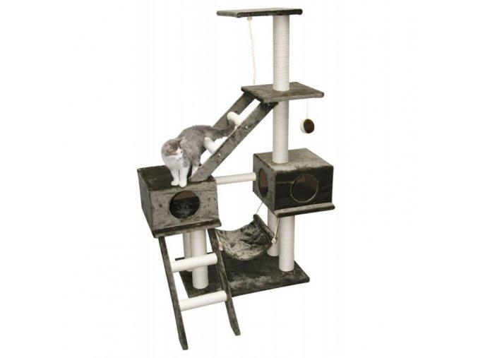 Škrabadlo pro kočky GRANAT - kočičí domek, šedá
