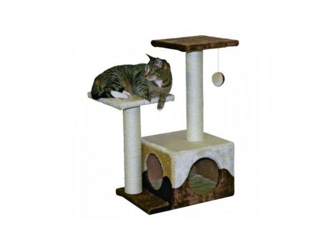 Škrabadlo pro kočky SAPHIR - kočičí domek, béžová/hnědá
