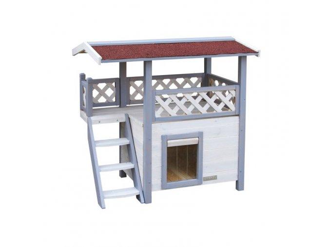 Pelíšek - bouda pro kočky ONTARIO, 77 x 50 x 73 cm