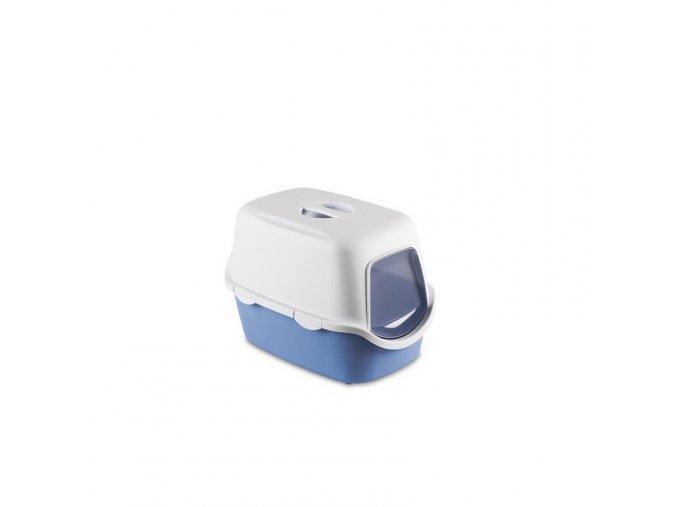 Toaleta pro kočky Cathy Filter - kočičí WC s filtrem, modrá