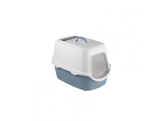 Toaleta pro kočky Cathy Filter - kočičí WC s filtrem, ocelově modrá