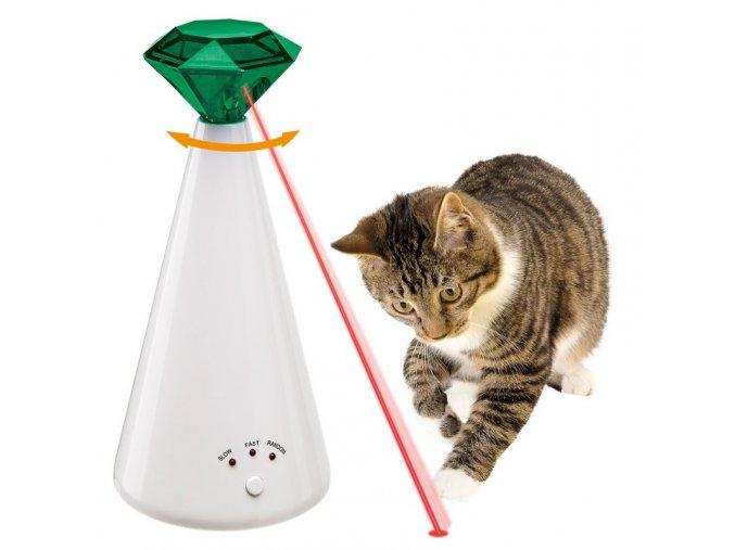 Hračka Phantom, laserová interaktivní, pro kočky